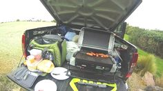 BBQ in the back of the truck before Dive