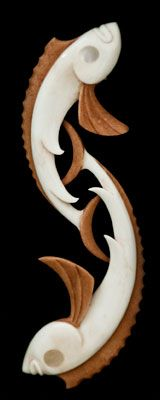 Framed Bone Carving by Kerry Thompson