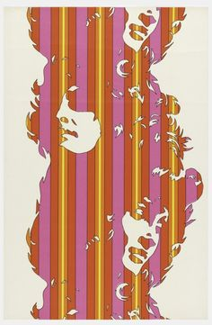 Werner Berges, wallpaper Beauty, 1972. Made by Xartwall