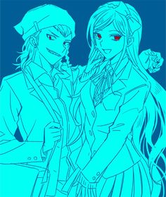 Souda Kazuichi and Sonia Nevermind.
