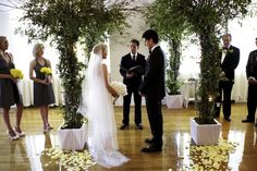 Wedding Ceremony at the Midtown Loft & Terrace event space in NYC