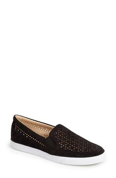 Free shipping and returns on Nine West 'Banter' Perforated Suede Slip-On Sneaker (Women) at Nordstrom.com. Delicate perforations form a floral pattern so slivers of skin can peek through the supple suede of a breezy slip-on sneaker. Size 8