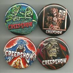 All pins are 1.5 inches in diameter.h All major credit cards as well as Paypal accepted. All pin orders ship for free. Classic Horror Movies, Horror Films, Disney Cartoons, Disney Movies, American Express Credit Card, Steven King, Tales From The Crypt, Credit Cards, Credit Score