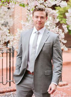dashing #groom in #gray  Photography: Jodi Miller Photography - www.jodimillerphotography  Read More: http://stylemepretty.com/2013/10/22/virginia-garden-wedding-from-jodi-miller-photography/