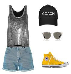 """""""Untitled #3"""" by meggieggie ❤ liked on Polyvore featuring Miss Selfridge, Ann Demeulemeester, Oliver Peoples and Converse"""