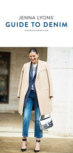A roundup of Jenna Lyons' best denim looks of all time (and how you can copy her style).