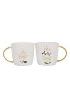 Slant Collections 'Mrs. Always Right' Coffee Mugs (Set of 2) available at #Nordstrom