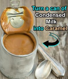 Turn a Can of Sweetened Condensed Milk into Caramel using the Slow Cooker - Just 1 Ingredient! Turn a Can of Sweetened Condensed Milk into Caramel using the Slow Cooker - Just 1 Ingredient! Caramel Pie, Caramel Recipes, Candy Recipes, Caramel Apples, Caramel Icing, Dessert Recipes, Dessert Sauces, Lemon Desserts, Dessert Ideas