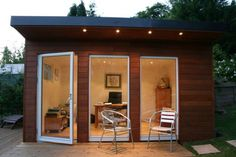 Garden Sheds can be studios! Over the last few days we have received several inquiries about the possible uses of garden sheds. One of the most most popular requests has been building a garden shed to be a studio or outdoor o… Backyard Office, Backyard Studio, Backyard Sheds, Garden Office, Outdoor Sheds, Garden Sheds, Garden Studio, Storage Building Plans, Building A Shed