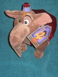 Aladdin 13 inches tall ABU Parade Elephant Plush Toy Doll Disney Store 2015 NEW. #DisneyStore