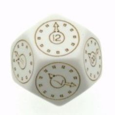 Chessex Time Dice, Unusual Dice, Rare Dice