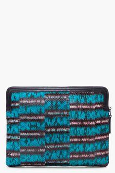lanvin turquoise snakeskin ipad case $760