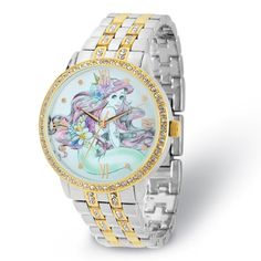 Disney Ariel Two-Tone Watch with Crystals #Disney #ArielWatch #TheLittleMermaid