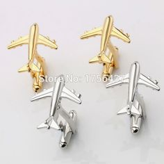 Hot Sale Real Tie Clip Lepton Fashion Plane Styling Cuff links Mens AirPlane Cufflinks For Mens Gifts Plane Design Cufflinks
