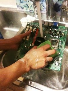 Geek Humor | Keep your computer clean! | From Funny Technology - Google+ via Technics