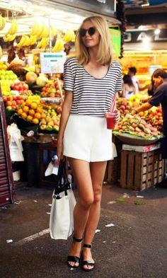 Look: B&W Stripes