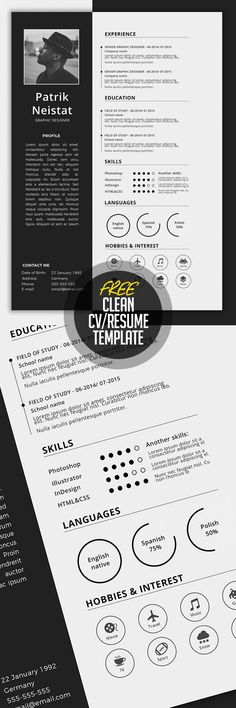 CV Simple CV/Resume Template Free Download                                                                                                                                                                                 More