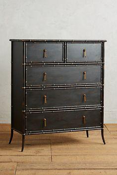 Honoka Five-Drawer Dresser #anthropologie, Tracey Boyd from England furniture designs, Engineered hardwood, poplar, beechwood.Style No. 36164051 $1399.95