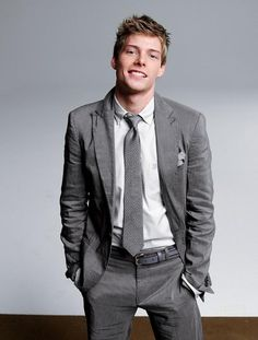 hunter parrish. Suit and tie.