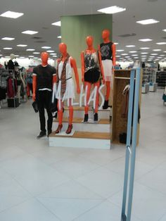 "C&A, instore, ""It's three steps up from where we used to be standing"", pinned by Ton van der Veer"