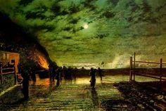 John Atkinson Grimshaw - In Peril, 1879, olio su tela,  Leeds Museums and Galleries, Leeds