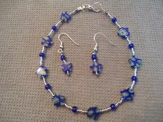 Beaded Glass Star Anklet & Earring Set of 2 by LaurelMoonCreations, $10.00