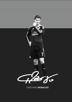 Cristiano Ronaldo Real Madrid poster via Behance