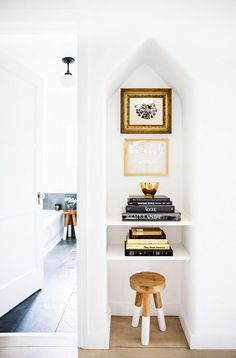 nook with shelves