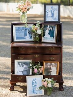 Use old family wedding photos. 23 free wedding ideas for brides on a budget #wedding #budget #ideas #WeddingIdeasOnABudget