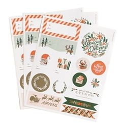 These Rifle Paper Co. Holiday Stickers and Labels will make wrapping gifts a joy