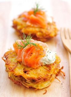 Potato Rosti with Smoked Salmon