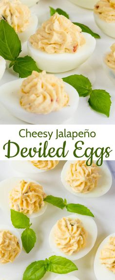 Cheesy jalapeño deviled eggs make a great snack or first course, and deserve to be seen a lot more often than just at parties. They're so easy to make, too!