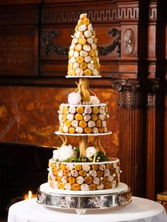 Hamilton Farm Wedding donut wedding cake fun wedding cake ideas