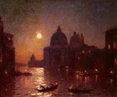 Venice, Moonlight by Christopher Williams   Bridgend County Borough Council Date painted: 1925