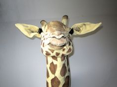 Giraffe faux taxidermy vegetarian trophy. by charactersbyjulia, $590.00
