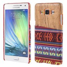 Javu - Samsung Galaxy A5 Hoesje - Back Case Hard Tribal Canvas en Houtprint Rood   Shop4Hoesjes