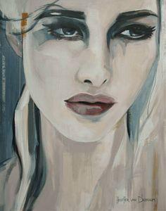 """Saatchi Art Artist Hesther Van Doornum; Painting, """"White Swaen"""" #art"""
