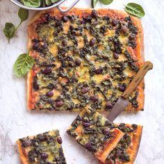 Pizza met spinazie en mozzarella - recept - okoko recepten