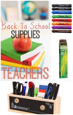 School Supplies Teachers Can't Live Without | eBay (spon) Great list for teachers, or if you want to buy supplies FOR your teacher!!