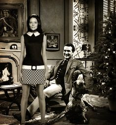 A Xmas card from Mrs Peel and Steed. Looks like their heads have come from a different photoshoot to me - weird, but nice nevertheless!