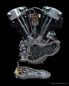 ◆ Visit MACHINE Shop Café ◆ (HD Knucklehead V-twin Motor)
