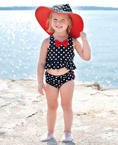 Ruffle Butts Summer Vintage Bow Peplum Tankini Swimsuit This is one cute swimsuit Mommy And Me Swimwear, Kids Swimwear, Summer Swimwear, 2 Piece Swimsuits, Cute Swimsuits, Tankini, Baby Swimsuit, Bikini Swimsuit, Baby Boy Fashion
