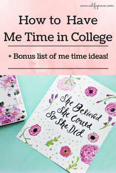 Are you feeling worn out in college? Here are a few ways that you can start including me time in college to help you stress less!