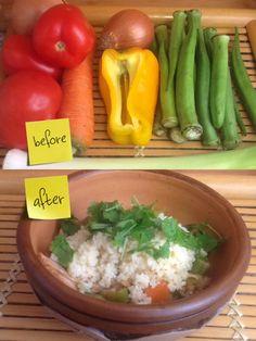 Couscous Marroquino com Frango e Legumes. Veja essa deliciosa, saudável e nutritiva receita no blog http://cozinhasincera.com/