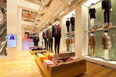 Uniqlo prices and product info Visual Merchandising, Uniqlo, Retail Interior, Retail Design, Stores, Store Design, New York, Inspire, Windows