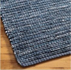 Kids Rugs: Kids Woven Cotton Denim Rag Rug - 3 x 5 Denim Rug by The Land of Nod Artisanats Denim, Denim Rug, Jean Crafts, Denim Crafts, Homemade Rugs, Denim Ideas, Old Clothes, Weaving Projects, Braided Rugs