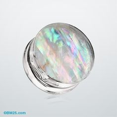 Mother of Pearl Inlay Double Sided Ear Gauge Plug