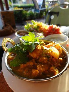 Mauritian Prawn & Chicken Curry at Martine's Cafe & Restaurant.