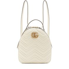Gucci GG Marmont quilted-leather backpack ($1,890) ❤ liked on Polyvore featuring bags, backpacks, gucci bag, quilted bag, day pack rucksack, chevron bag and gucci