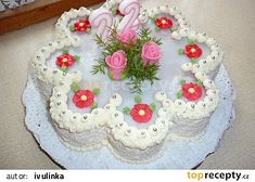 Cake Decorating Designs, Cake Designs, Fancy Cakes, Cute Cakes, Happy Birthday Wishes Cake, Bolo Minnie, 3 Tier Wedding Cakes, Bridal Shower Desserts, Cake Piping